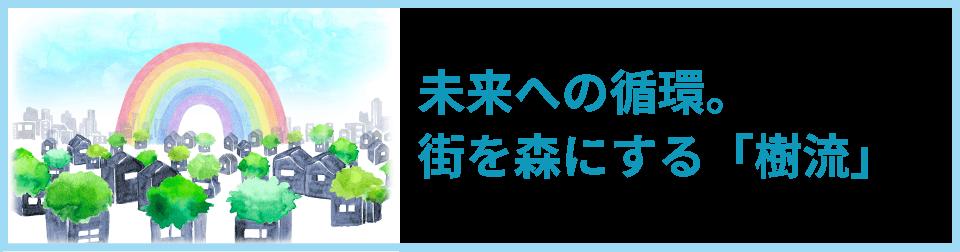 未来への循環。街を森にする「樹流」。